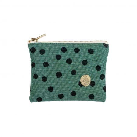 pochette-sauge-polka-petit-modele-coton.